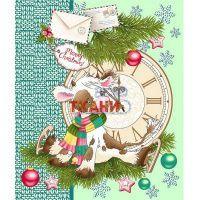 Вафельное полотно наб 50±5см 05643-2 Пять минут / Новый год /зеленый 100%хл продажа в СПб с доставкой - интернет-магазин ТКАНИ все